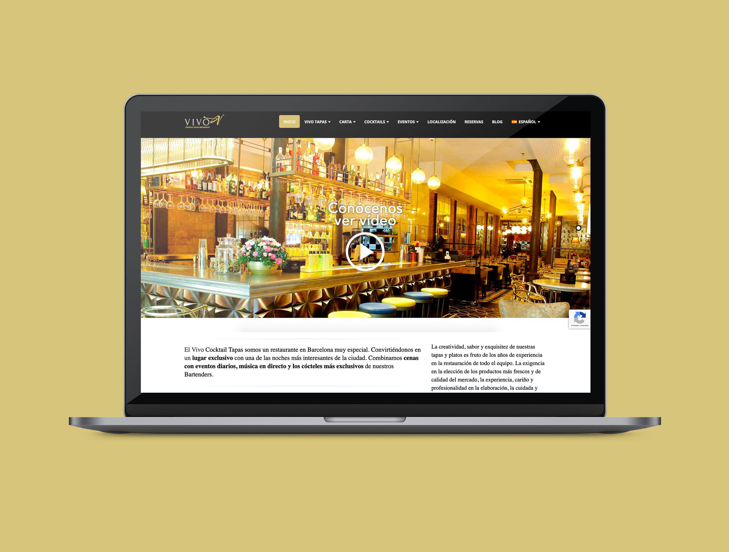 Web restaurante vivo tapas
